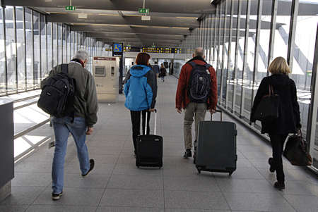travler: KASTRUPCOPENHAGENDENMARK-Metro traveler toward Copenhagen Interntional airport     13 March 2014