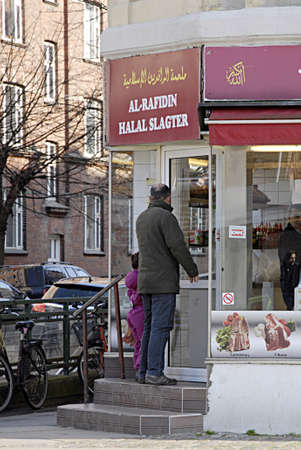 slaughtering: COPENHAGEN DENMARK-Islamic halal butcher opens on sunday on holyday         30  March 2014   Editorial