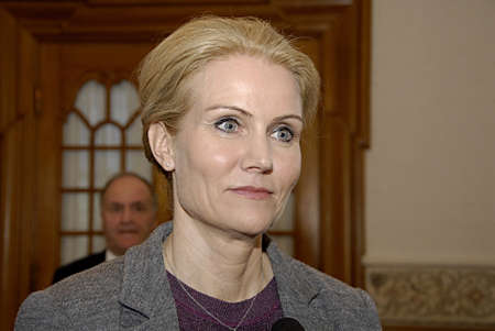 allowance: COPENHAGEN DENMARK-  Ms.Helle Thorning-Schmidt prime minister talking to media at christiansborg after question time in danish parliament regarding Child allowance, prime minister is under pressure from oppostion parties and her own lord mayor to discuss