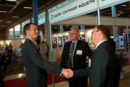 prince of denmark: 2.November 2004. Copenhagen Denmark,Prince Joachim of Denmark opens oficial conference the 20 International Transport and Logistics 2004 in Bella Center,at absent of Queen Margrethe and Crown prince Frederik Prince Joachim rule the Kingdom of Denmark, Editorial