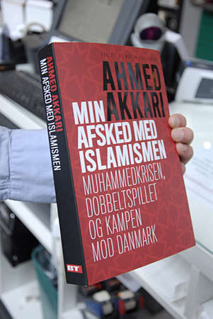 imam: COPENHAGEN DENMARK-  Ahmed Akkari wrote book on book shop his double role as Imam and against denmark during danish drawing crisis he talks his past as Imam and his role crisis        09 April 2014
