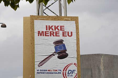 patents: KASTRUP COPENHAGEN DENMARK-  Danish peoples party european union parliament elections No more European union and No to European patents        08 May 2014