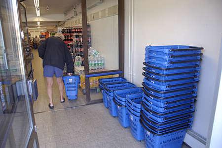 kastrup: KASTRUP COPENHAGEN DENMARK-  Aldi german food chain store        30 June  2014