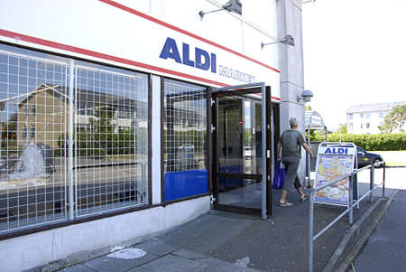 kastrup: KASTRUP COPENHAGEN DENMARK-  Aldi german food chain store        30 June  2014