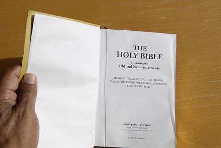 KASTRUP COPENHAGEN DENMARK-  Holy bible king james version        20 July   2014   Editorial