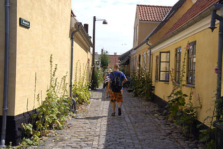 DRAGØRDRAGOR DENMARK-  Daily life at Dragor habour and residential are danish king chritians invited dutch people from nederlands holland and century ago and there have become all danes and there are still dutch names and streets with dutch names and ar
