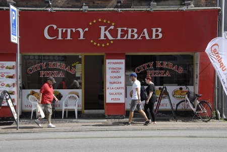 COPENHAGEN DENMARK- City kebab fast food place on amagerbrogade         15  Auguest  2014