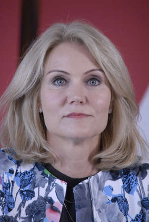 helle thorning schmidt: HELSINGORHELSING�R DENMARK- Social democrat party hold summer meeting at LO skole (lo school)helsingor Ms.Helle Thorning-Schmidt danish prime minister and leader of danish sical democrat party  and other three minister joined her at press conference bef