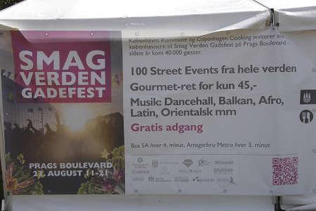straat feest: KOPENHAGEN  Denmark, Smag verden gadefest of Taste wereld straatfeest bij te zetten in politieke circus 23 Auguest 2014