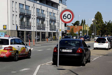 trafic: KASTRUP DENMARK- Trafic 60 speed limit KM on Aamagerlandvej main road in Kastrup        28 August   2014  Editorial