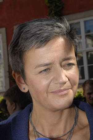 liberal: COPENHAGEN DENMARK- Danish government Ms.margrethe Vestager former minister for Economy and chairwoman of danish Radical liberal party  government name Denmark of new EU_commissioner European Union Commissioner and she farewell today to ministry for econ