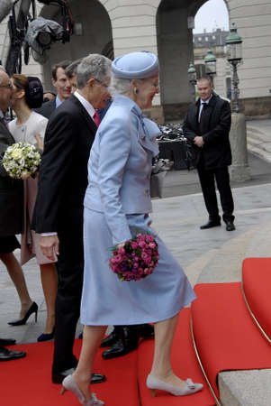 royal family: COPENHAGENDENMARK_Danish royal family Queen Margrethe II prince henrik and Crown prince Frederik crown princess Mary pince Joachim and pincess Marie and pincess Benedikte arrive at christiansborg for official opening of the danish parliament folketinget