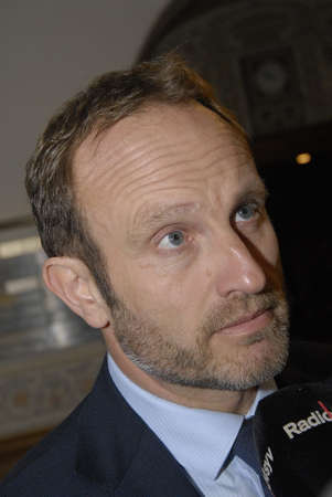 spokesman: COPENHAGENDENMARK_Denmarks minister for foreign affairs at left Martin Lidegaard and Enhedslisten political party spokesman talking to Kurds from various political parties discussing Kurds town Kobani in Syria advance of ISIS islamic State and d anosh ro
