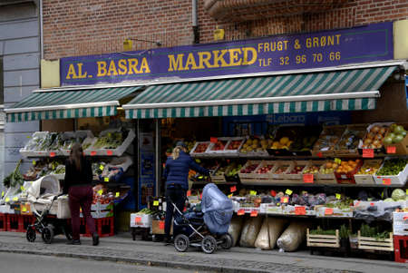 COPENHAGENDENMARK_ Danish consumers at immigrant  Al basra marked or fruit and vegetable shop                8 October  2014