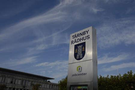 KOPENHAGEN  DENMARK_ Jobcenter bij Taarnby gemeentehuis (jobcenter trnby rdhus) danish JobCenters maken deel uit van de Deense townlal of de Raad 8 oktober 2014 Redactioneel
