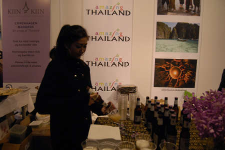 spainish: COPENHAGENDENMARK_Spainish travel state own agency celebrates 50 years in Denamrek in connection with Travel fair for quility travlers thailand and many many other travel bureaue and agencies has stands in Oksnehallen today on friday             17 Octob