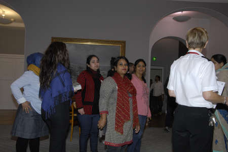 COPENHAGENDENMARK Immigrantstudent from school stduents visit christiansborg danish parliament building folketinget today            23 October  2014