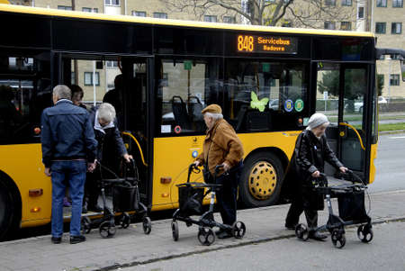 COPENHAGENDENMARK_  Senior servicebus rodover 848 from council rodover           24 October  2014