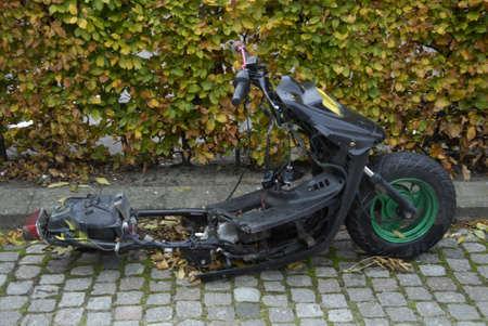 COPENHAGENDENMARK_Unknow person removed wheel from stolen motor bike             27 October  2014