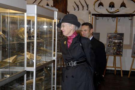 COPENHAGENDENMARK_ Her Majesty the Queen Margrethe II of Denmark visist participates Danish army Kastelles 350 years birthday jubilee today on  the            01 November  2014