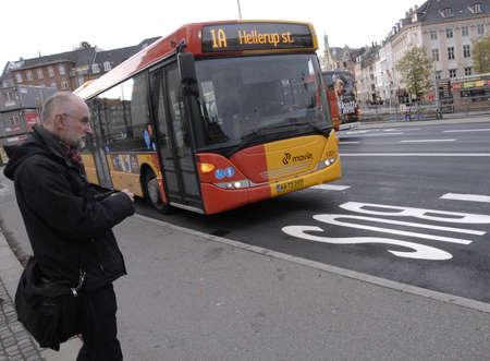 trafic: COPENHAGENDENMARK_Bus signfor rest of trafic             04 November  2014