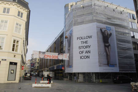 ie: COPENHAGENDENMARK_large billboard at illum department store on stroeget   Kylie on billboard for Sloggi at public bus stops  Ky�ie the story o an icon         11 November  2014