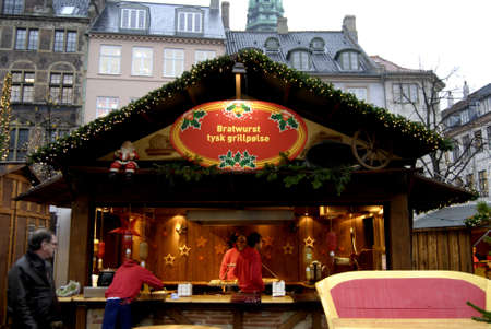 chrstmas: COPENHAGENDENMARK_   Christmas market at hojbroplads behind his danish parliament building christiansborg german food and wine and chrstmas wine drinks         14 November  2014