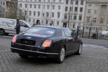 ministers: COPENHAGENDENMARK_  H.M.The queen Margrethe II of Denmark drives away in auto from her meetings with her Cabnet ministers along with crown prince Freferik (statsr�d) at christiansborg today on          26 November  2014