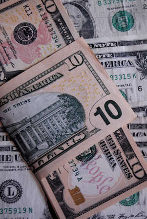 Lewiston . Idaho state. USA_USA dollars bill in ten and one dollar bills                17 December   2014.