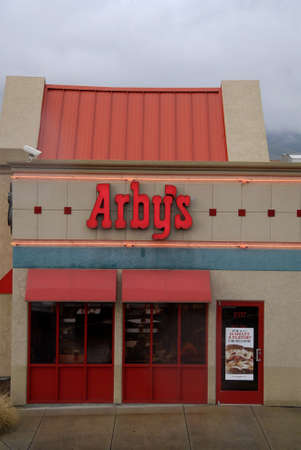 food state: Lewiston . Idaho state. USA  Arbys fast food restuarant in valley todat on friday              19 December   2014.