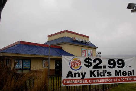 idaho state: Lewiston . Idaho state. USA  Burger king fast food menu in  valley               19 December   2014.