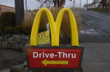 Lewiston . Idaho state. USA .McDonalds fast foof restaurnt in valley                19 December   2014. Editorial