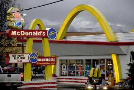 menue: Lewiston . Idaho state. USA .McDonalds fast foof restaurnt in valley                19 December   2014. Editorial