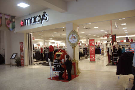 Lewiston . Idaho state. USA   _Christmas shoppers at Macys store at Lewiston central mall and Macys also job hiring at christmas holidays and discount sale during christma seasion              22 December   2014.