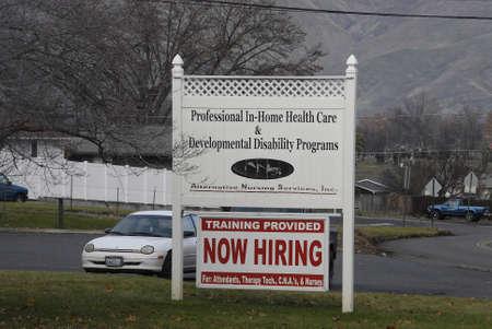 cna: Lewiston. Stato Idaho. USA _Training provied ora affitto per attendantss CNA e infermiere professionale per l'assistenza domiciliare sanitaria e prorams disabilit� dello sviluppo in valle 26 dicembre 2014.
