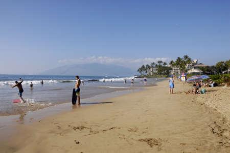 sail board: Maui .Hawaii islands ,USA  Vationer life on Kekei beach maui hawaii     22 January 2015