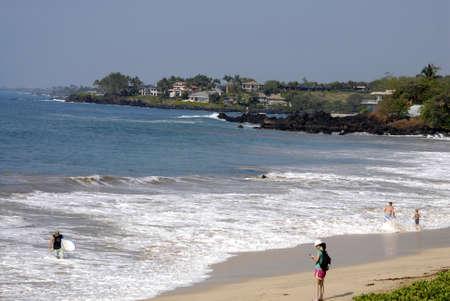 sail board: Maui .Hawaii islands ,USA  Vacationers enjoying day on Makena beach maui hawaii         22 January 2015 Editorial