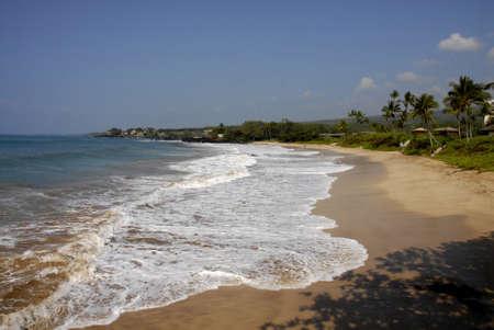 maui: Maui .Hawaii islands ,USA  Vacationers enjoying day on Makena beach maui hawaii         22 January 2015 Editorial
