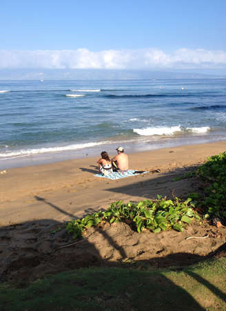 the bather: Maui .Hawaii islands ,USA Sun bather oh maui beach          20 January 2015