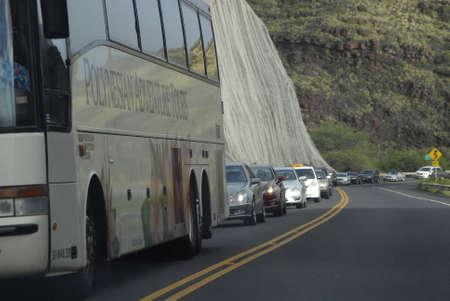 autos: Maui .Hawaii islands ,USA_Traffic congestion on staurdayafternoon          24 January 2015 Editorial