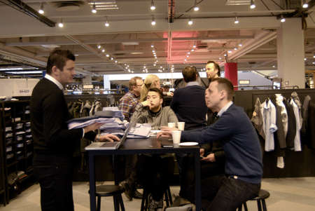 marketers: Copenhagen-Denamrk  _Life at C.I.F.F Copenhagen International Fashion Fair 2015  consumers buyers trade marketers media people and public  exhibitioneser at Bella Center today on                 30 January 2015