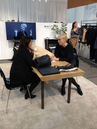 marketers: Copenhagen-Denamrk  _(Photojournalism with iphone5  or imagesa ae take wth smarphone iphone )Life at C.I.F.F Copenhagen International Fashion Fair 2015  consumers buyers trade marketers media people and public  exhibitioneser at Bella Center today on    3