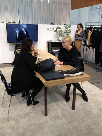 marketers: Copenhagen-Denamrk  _(Photojournalism with iphone5  or images take wth smarphone iphone )Life at C.I.F.F Copenhagen International Fashion Fair 2015  consumers buyers trade marketers media people and public  exhibitioneser at Bella Center today on    31 Ja