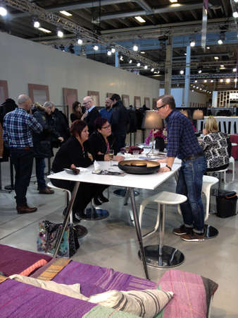 Copenhagen-Denamrk  _(Photojournalism with iphone5  or images take wth smarphone iphone )Life at C.I.F.F Copenhagen International Fashion Fair 2015  consumers buyers trade marketers media people and public  exhibitioneser at Bella Center today on    31 Ja