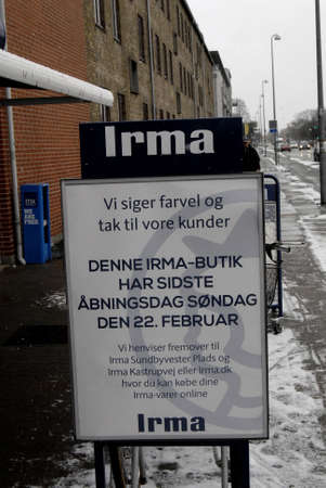 fakta: Copenhagen - Denmark Coop closed three grocery store chains ,Irma selling 50 clousure sale and Fakta and brugersen in Denmark due to media report                 02 Febuary 2015