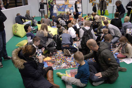 world event: Copenhagen-Denamrk  _Lego world start today for 4 days event in Bella center thousands of kids with familie ar rushing to BellaCenter for Lego world event from today til sunday                 12 Febuary 2015