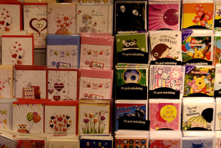 hallmark: Copenhagen-Denamrk_greetings and well wishes abd birthday cards are produces by Hallmark on sale on book store today on saturday                  21 Febuary 2015 Editorial
