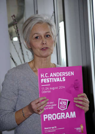 festiva: Odense ,Denamrk  Ms.Gitte Didriksen Leading figure from Hans Christians Andersen Festvals high light at Press conference today Hans Christian Andersen festivals 2015 ,Hans Christians Andersen fair tale writers home town and  festival wil� take from 16-24  Editorial