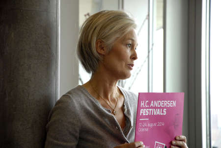 hans: Odense ,Denamrk  Ms.Gitte Didriksen Leading figure from Hans Christians Andersen Festvals high light at Press conference today Hans Christian Andersen festivals 2015 ,Hans Christians Andersen fair tale writers home town and  festival wilæ take from 16-24