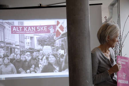 Odense ,Denamrk  Ms.Gitte Didriksen Leading figure from Hans Christians Andersen Festvals high light at Press conference today Hans Christian Andersen festivals 2015 ,Hans Christians Andersen fair tale writers home town and  festival wilæ take from 16-24